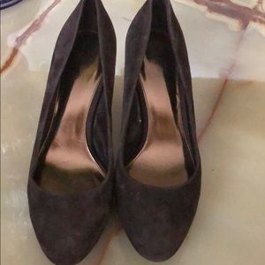 Brown Suede heels are ready to move out!